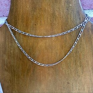 """Jewelry - ⏳VINTAGE Sterling Silver 24"""" Link Chain Necklace"""